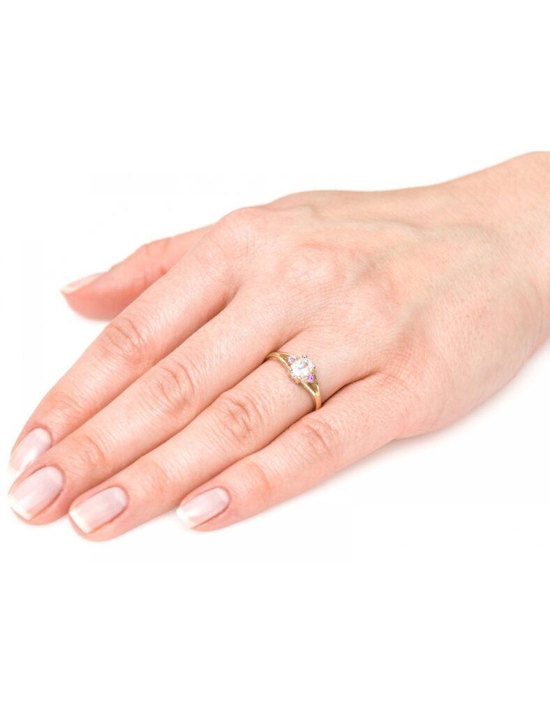 tanie złote pierścionki